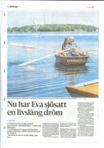 Eva och hennes dotter i Evas båt