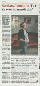 Bild av tidningsartikel i Sydöstran